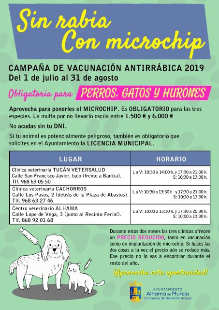 Campaña de vacunación antirrábica y microchip 2019, Foto 2