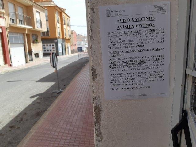 Comienzan las obras de renovación de la red de agua potable y alcantarillado en un tramo de la calle Teniente Pérez Redondo - 3, Foto 3