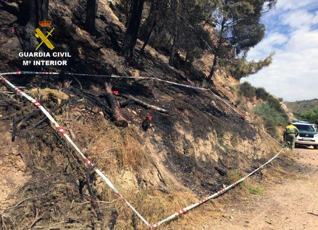 La Guardia Civil investiga a tres menores por dos incendios en el paraje El Menjú de Cieza - 1, Foto 1