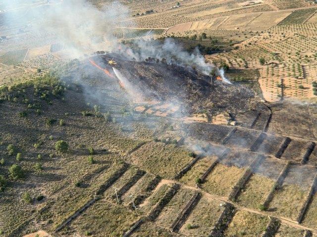 Incendio forestal en Cañada de la Leña (Abanilla) - 1, Foto 1