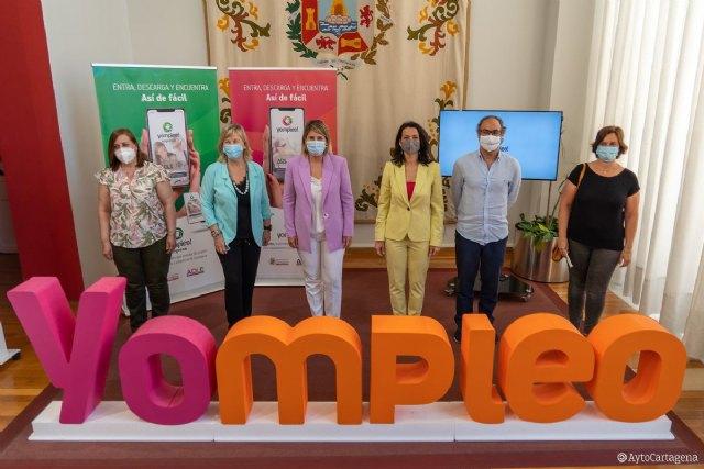 La aplicación Yompleo pone en contacto a empresarios y demandantes de empleo de Cartagena - 1, Foto 1