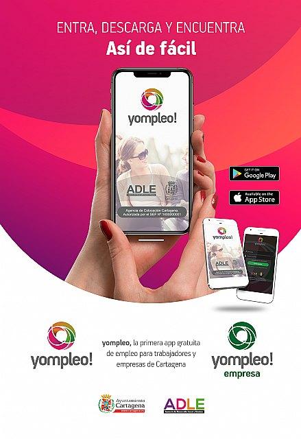 La aplicación Yompleo pone en contacto a empresarios y demandantes de empleo de Cartagena - 2, Foto 2