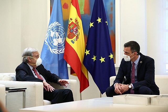 Sánchez reafirma ante Guterres el compromiso de España con el multilateralismo para afrontar los desafíos globales - 2, Foto 2