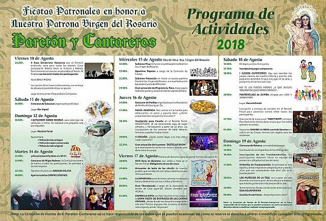 Más de una treintena actividades conforman el programa de fiestas patronales de El Paretón-Cantareros, en honor a la Virgen del Rosario, Foto 2
