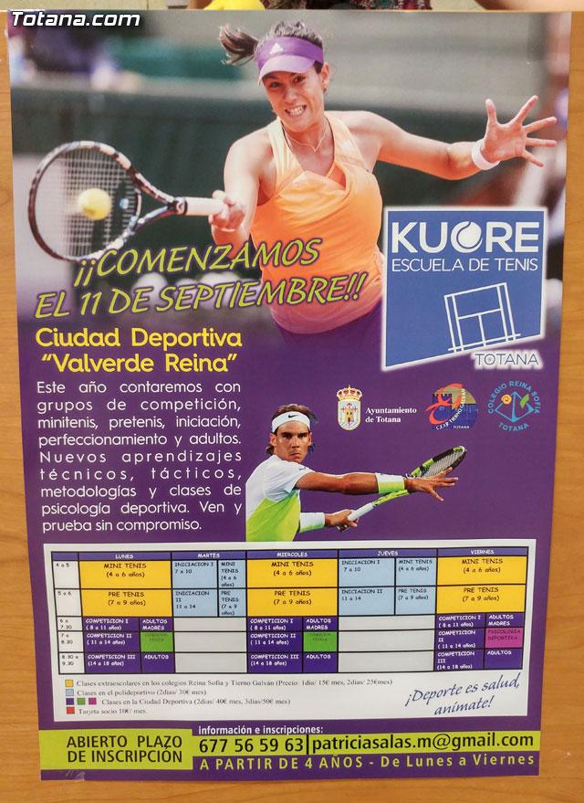 Se presenta la programación de actividades del inicio de temporada de la Escuela de Tenis Kuore, Foto 2