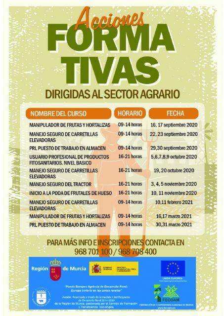 El Ayuntamiento de Caravaca y FECOAM oferta un programa formado por diez cursos para profesionales en activo y desempleados del sector agrario - 1, Foto 1