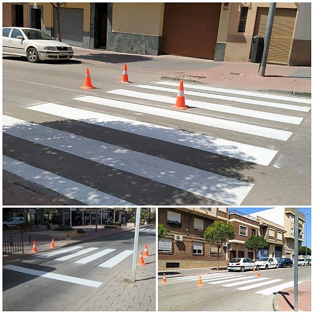 Saorín: Esta semana concluirá el repintado de los pasos de peatones de San Juan Bosco - 1, Foto 1