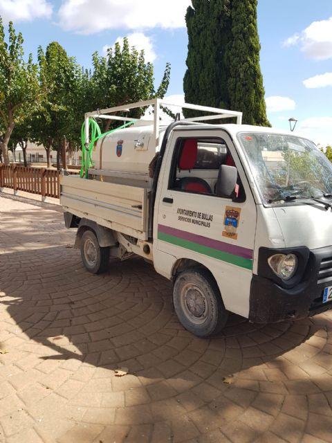 El Ayuntamiento de Bullas realiza labores de desinfección de parques y jardines - 2, Foto 2