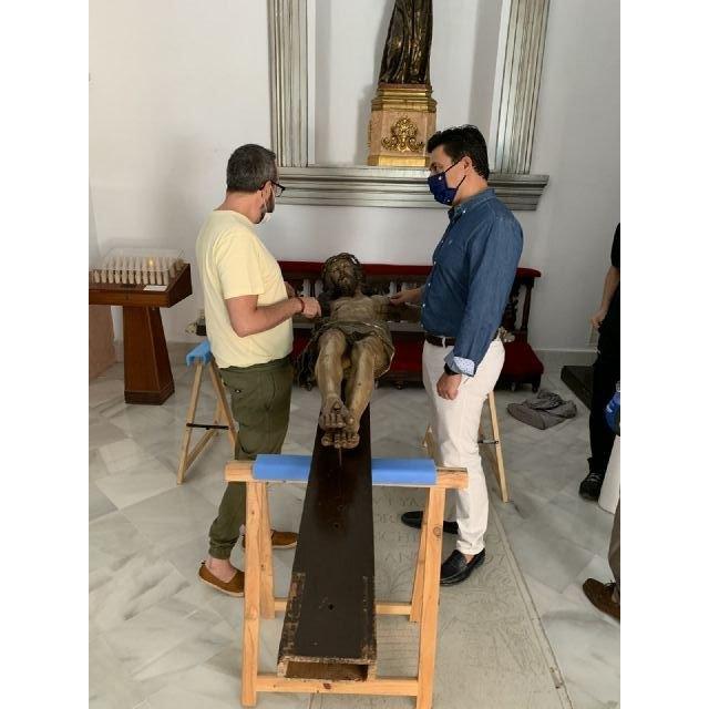 El Cristo de las Ánimas abandona el templo de San Javier para ser restaurado en el Centro de Restauración de la Región de Murcia - 2, Foto 2