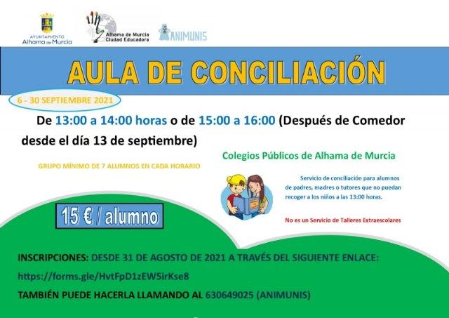Abierto el plazo de inscripción para el aula de conciliación durante el mes de septiembre, Foto 1