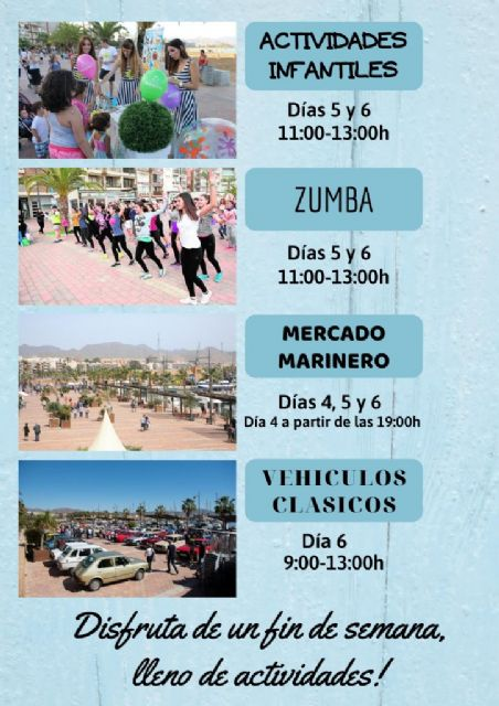 Mercado marinero, actividades infantiles, vehículos clásicos y zumba para este fin de semana en el Puerto, Foto 1