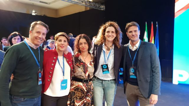 La candidata a la alcaldía de Cartagena y la alcaldesa de Archena han participado en la 24 Intermunicipal Popular en Málaga - 1, Foto 1