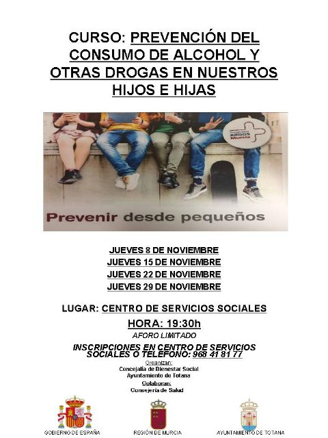 """Offer the course """"Prevention of alcohol and other drug use in our children"""", which will be held every Thursday in November - 1"""