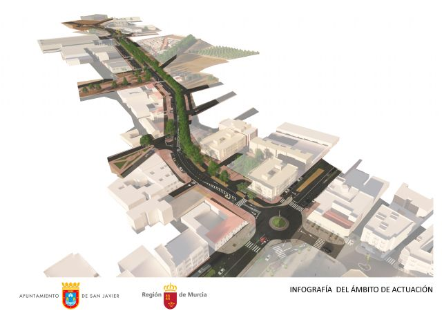 La Comunidad licita las obras de mejora de la avenida Miguel Ángel Blanco de San Javier - 1, Foto 1