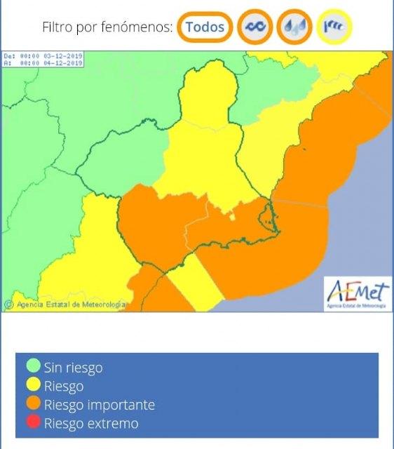 Actualizaci�n de la previsi�n y avisos meteorol�gicos, Foto 1