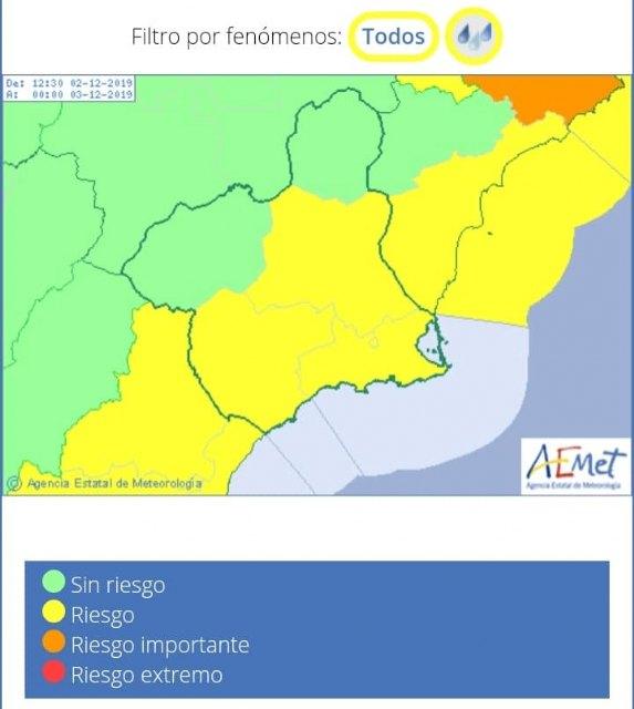 Actualizaci�n de la previsi�n y avisos meteorol�gicos, Foto 2