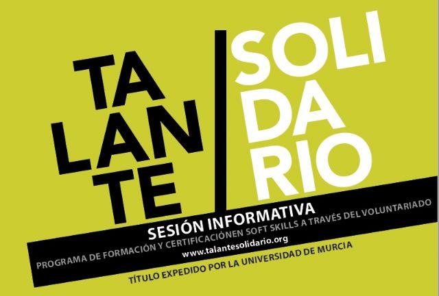 El proyecto de certificación de competencias Talante Solidario se convierte en título propio de la Universidad de Murcia - 1, Foto 1