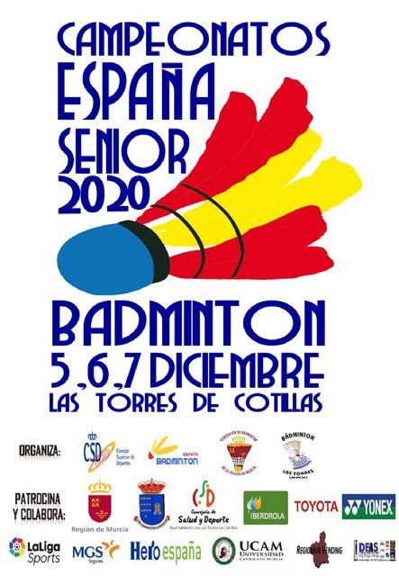 148 deportistas se darán cita en Las Torres de Cotillas para el campeonato nacional senior de bádminton - 2, Foto 2