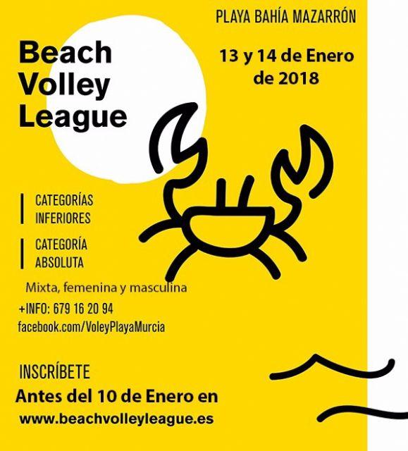 La playa de Bahía acogerá la tercera jornada de la liga regional de vóley playa - 1, Foto 1