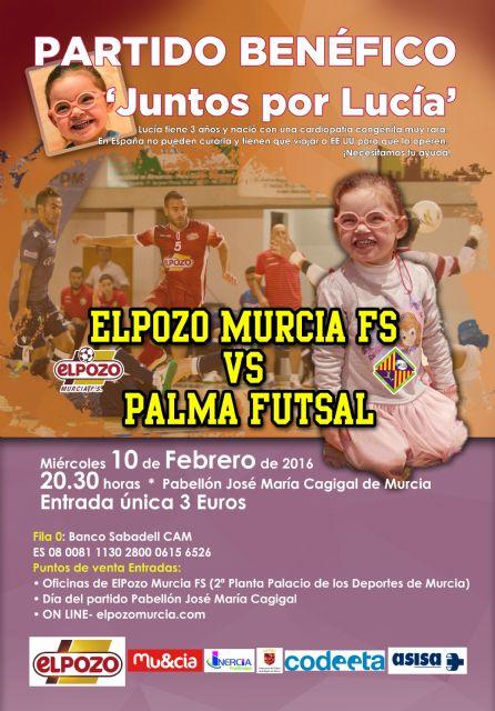 Partido Benéfico Juntos por Lucía - ElPozo Murcia FS vs Palma Futsal - 1, Foto 1