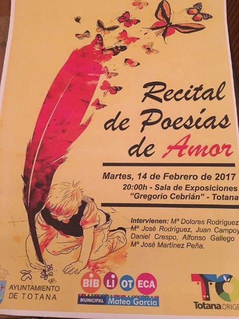 La Sala de Exposiciones Gregorio Cebrián acogerá un Recital de Poesías de Amor el martes 14 de Febrero, Foto 2