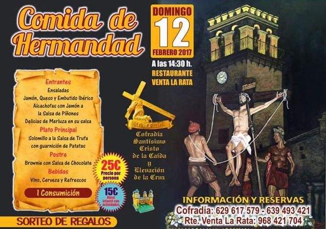 La Cofradía de La Caída organiza una comida de hermandad, que tendrá lugar el próximo 12 de febrero, Foto 1