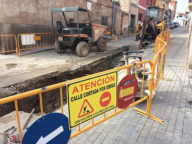 The renovation works of the supply and sanitation network in an important section of the Cañada Zamora are underway