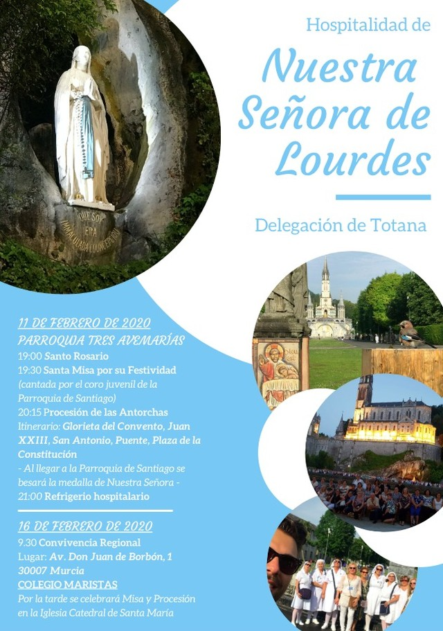 La Delegaci�n de Totana de la Hospitalidad de Lourdes celebrar� varios actos el 11 de febrero con motivo de su Festividad, Foto 1
