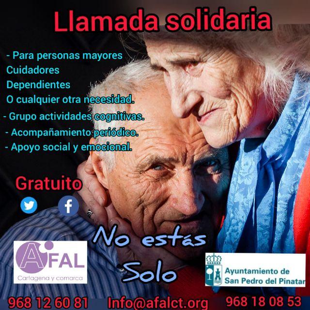 El Ayuntamiento de San Pedro del Pinatar y AFAL, ponen en marcha la llamada solidaria - 1, Foto 1