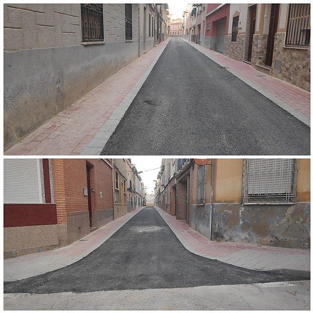 Concluyen las obras de remodelación en cuatro calles de Cieza - 1, Foto 1