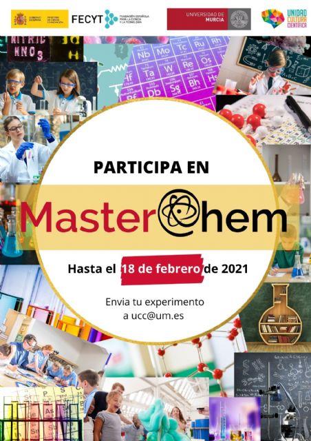 MasterChem, el exitoso certámen de Química de la UMU, amplía hasta el 18 de febrero su plazo de inscripción - 1, Foto 1