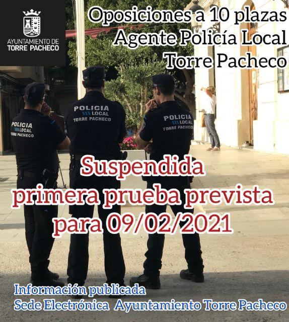 Oposiciones a 10 plazas de agente de la Policía Local de Torre Pacheco - 1, Foto 1