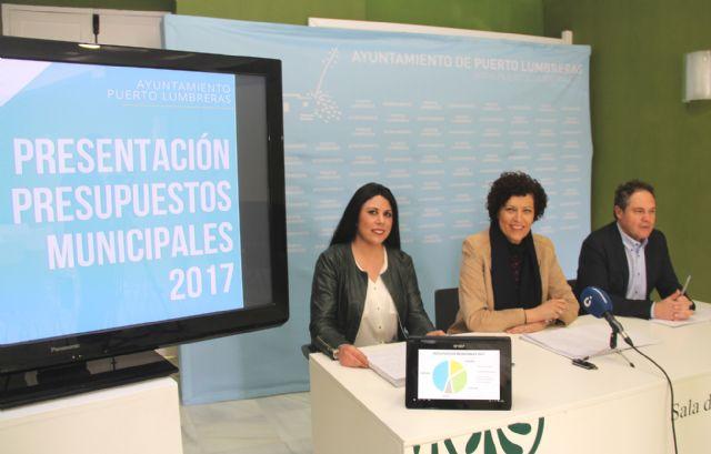 Puerto Lumbreras presenta los presupuestos municipales de 2017 centrándose en el compromiso social y el empleo - 1, Foto 1