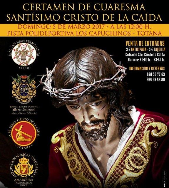 Este domingo 5 de marzo tendrá lugar el Certamen de Cuaresma Santísimo Cristo de la Caída, Foto 1