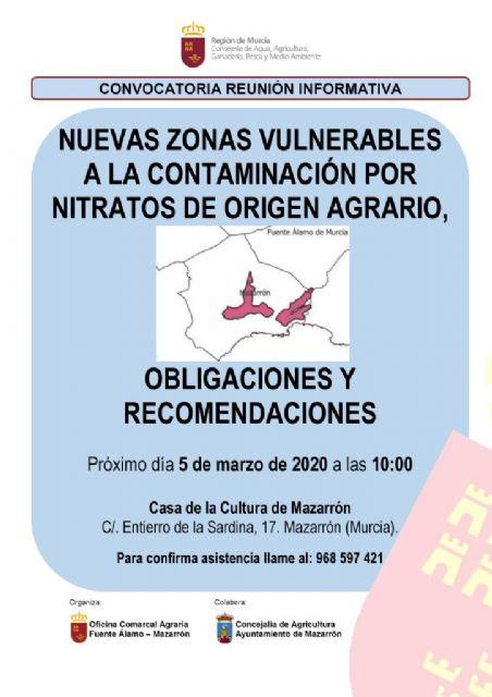 Los agricultores podrán informarse de las nuevas zonas vulnerables a la contaminación por nitratos - 1, Foto 1