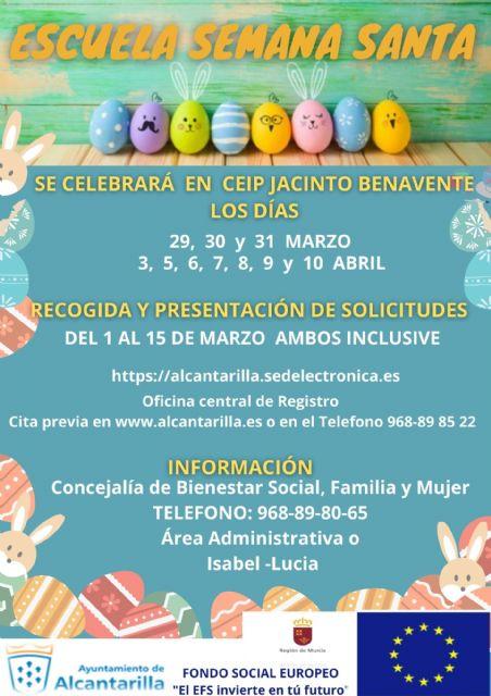 Abierto el plazo de inscripción en la Escuela Municipal de Semana Santa para facilitar la conciliación - 1, Foto 1