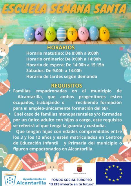 Abierto el plazo de inscripción en la Escuela Municipal de Semana Santa para facilitar la conciliación - 2, Foto 2