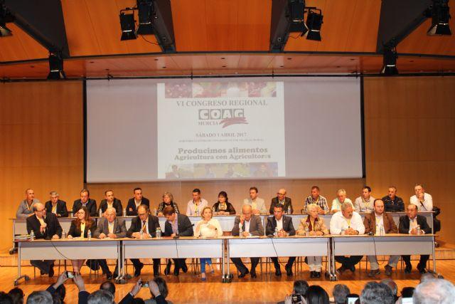 Coag Murcia celebro su VI Congreso Regional y homenaje� a cuatro de sus dirigentes hist�ricos, con motivo del 40 aniversario de la organizaci�n, Foto 1