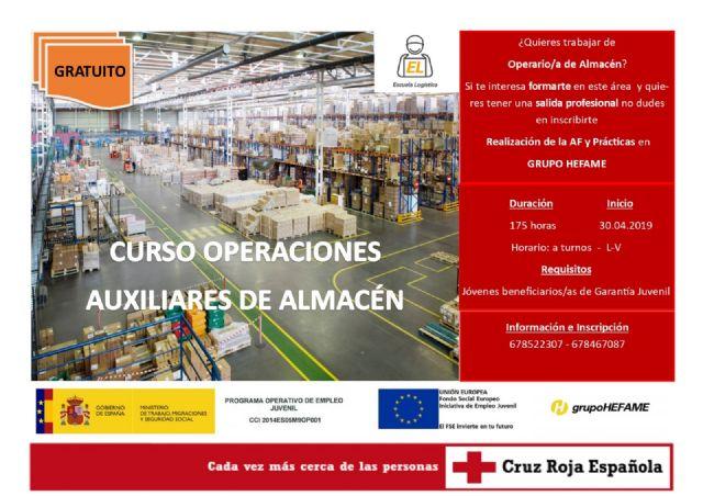 Del 30 de abril al 4 de junio tendrá lugar la formación Operaciones Auxiliares de Almacén, en las instalaciones de Santomera, Murcia, con una duración total de 175h - 1, Foto 1