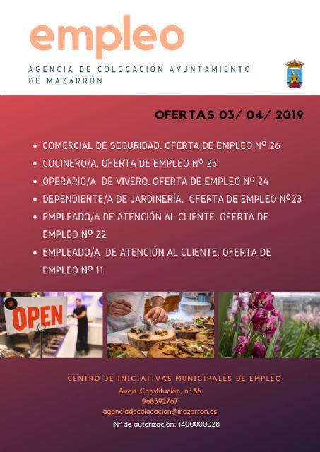Ofertas de empleo de la agencia municipal 03/04/2019 - 1, Foto 1