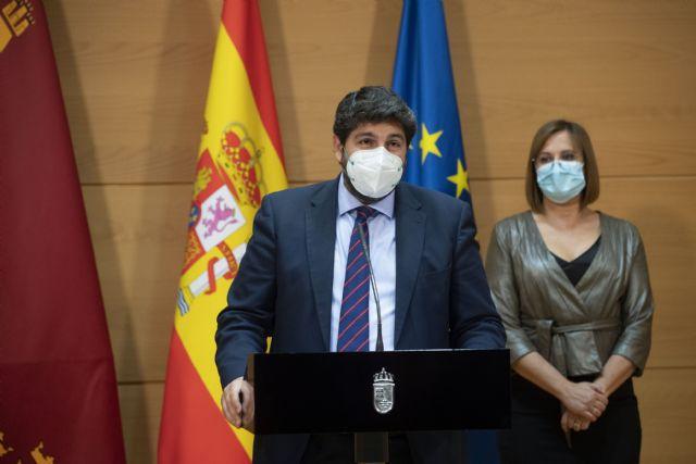 [López Miras destaca el objetivo principal de dejar atrás la pandemia y la crisis económica y social con un Gobierno más fuerte y unido, Foto 2