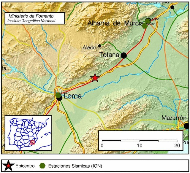 An earthquake of 3.7 degrees near Lorca is felt in Totana