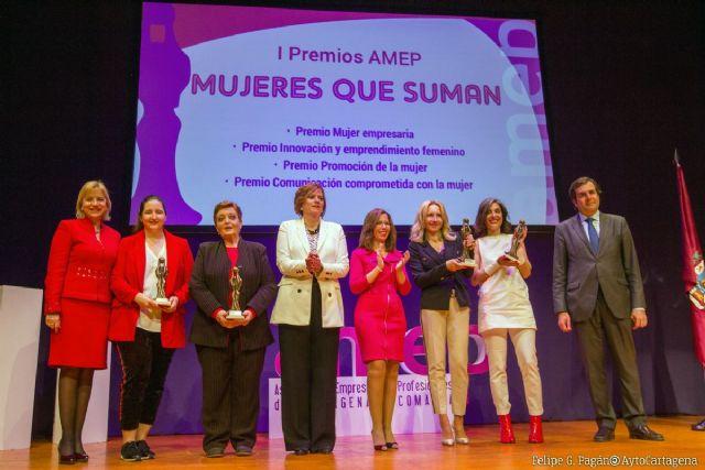 María Gómez, Constanza Mas, FEDEPE y Chelo Cánovas, ganadoras de la I edición de los Premios AMEP ´Mujeres que suman´ - 1, Foto 1