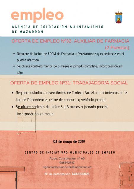 Ofertas de empleo de la agencia municipal. 03/05/2019 - 1, Foto 1