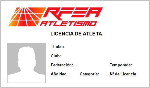 Licencia digital para los atletas federados - 1, Foto 1