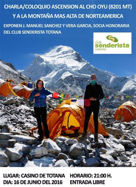 Totana acoge una charla/coloquio sobre la ascensión al Cho Oyu y a la montaña más alta de Norte América, Foto 1