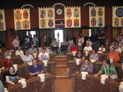 Los Centros de día para la Discapacidad de Totana realizan una visita guiada a la sede de la Asamblea Regional en Cartagena, Foto 3