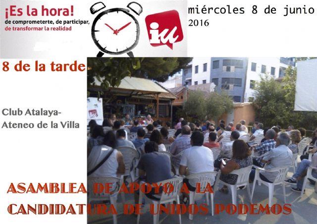 IU-Verdes: Unidos Podemos ha nacido para ganar al PP el 26J - 1, Foto 1