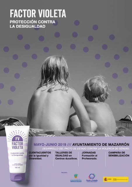 El pacto de estado contra la violencia de género trae a Mazarrón la campaña 'factor violeta', Foto 1