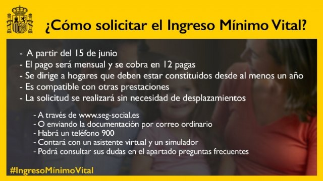 The Minimum Vital Income is a basic income arranged by the Government of Spain that seeks to help families with less income